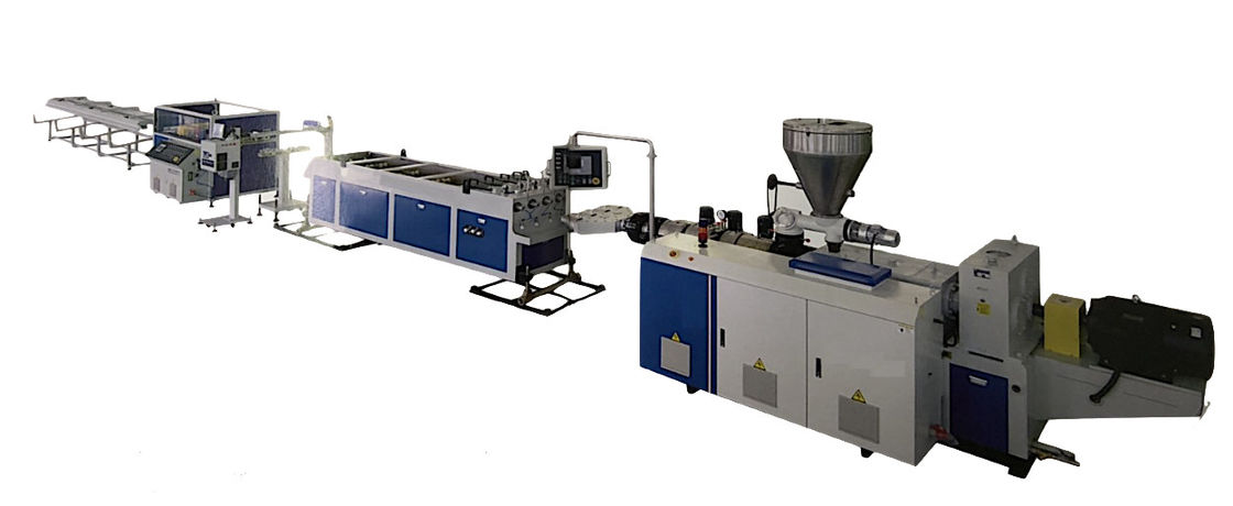 Co Extrusion Pvc Pipe Production Line Three Layer PVC Solid Wall 900 Kg/H High Output